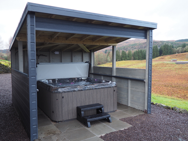Hot Tub at Collaig Byre self catering by Loch Awe, Taynuilt Argyll Scotland