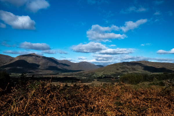 Memorial view from Collaig Byre self catering by Loch Awe, Taynuilt Argyll Scotland