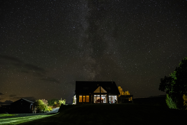 Milky Way over Collaig Byre self catering by Loch Awe, Taynuilt Argyll Scotland